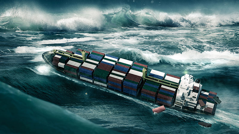 containership-storm damaged