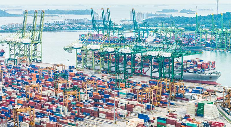 Container Ship Traffic Jam in California