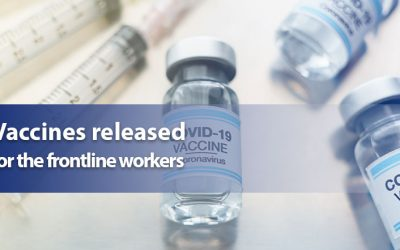 Vaccines released for the frontline workers
