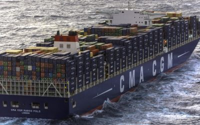 The largest container ship to visit the US East Coast