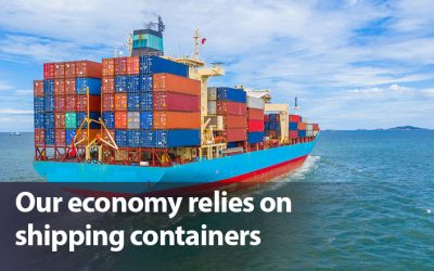 Our economy relies on shipping containers